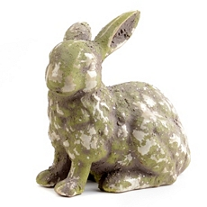 Aged Ceramic Rabbit Statue at Kirkland's