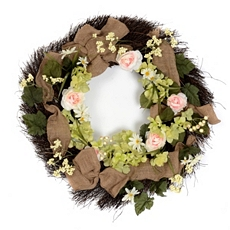 Burlap Ribbon Wreath at Kirkland's