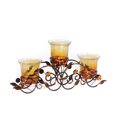 Amber Crackle Glass 3-Candle Runner at Kirkland's