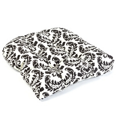 Black Damask Outdoor Cushion at Kirkland's