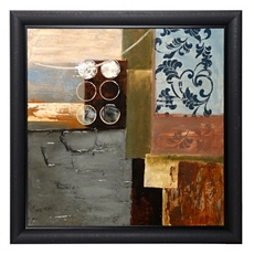 Blue & Brown Abstract Framed Canvas Print at Kirkland's