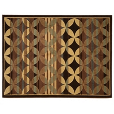 Avalon Brown & Blue Rug, 8x11 at Kirkland's