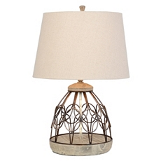 Iron Gate & Wood Base Table Lamp at Kirkland's
