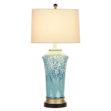 Blue Floral Ceramic Table Lamp at Kirkland's