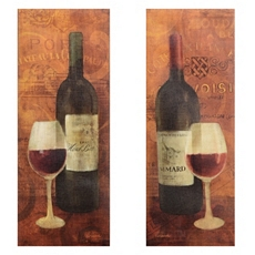 Vin Rouge Canvas Art Print, Set of 2 at Kirkland's