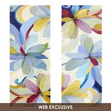Silk Flowers Canvas Art Print, Set of 2 at Kirkland's