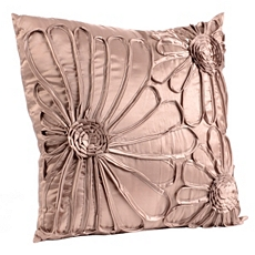 Upscale Taupe Flower Pillow at Kirkland's