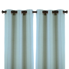 Blue Raw Silk Curtain Panel, Set of 2 at Kirkland's