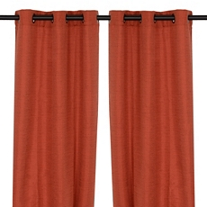 Spice Raw Silk Curtain Panel, Set of 2 at Kirkland's