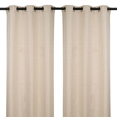 Taupe Raw Silk Curtain Panel, Set of 2 at Kirkland's
