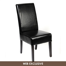Black Leather Parsons Dining Chair at Kirkland's