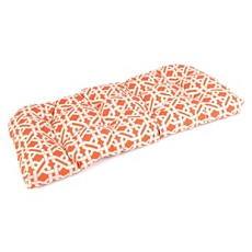 Orange Geometric Outdoor Settee Cushion at Kirkland's