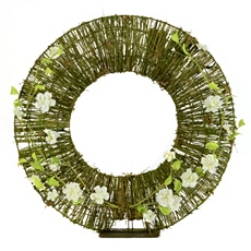 Rattan & Moss Wreath on Stand at Kirkland's