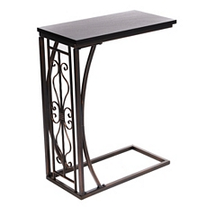 Metal & Wood Slipper Table at Kirkland's