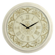 Cream Metairie Fleur-de-Lis Clock at Kirkland's