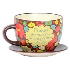 Ceramic Flowers Teacup Planter at Kirkland's