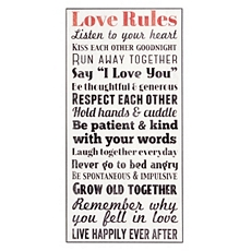 Love Rules Wall Plaque at Kirkland's