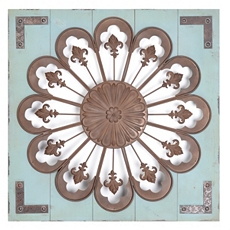Turquoise Wood & Metal Wall Plaque at Kirkland's