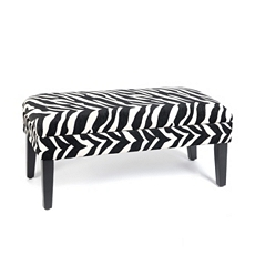 Zebra Print Storage Bench at Kirkland's
