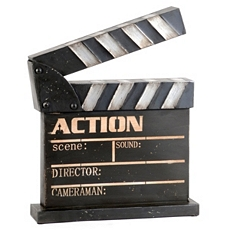 Metal Movie Clapboard Statue at Kirkland's