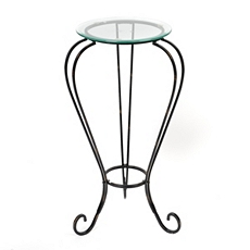 Glass Top Metal Plant Stand at Kirkland's