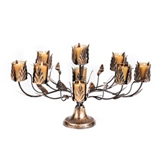 Bronze Acanthus Leaf 9-Candle Centerpiece at Kirkland's