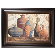 Vessels on Damask Framed Art Print at Kirkland's