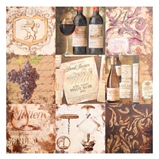 Wine Patchwork Canvas Art Print at Kirkland's