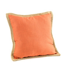 Orange Jute Linen Pillow at Kirkland's