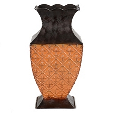 Mustard & Brown Fleur-de-Lis Vase at Kirkland's