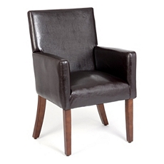 Brown Faux Leather Arm Chair at Kirkland's