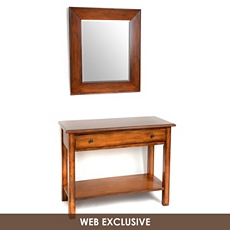 Bellamy Mahogany Console & Mirror, Set of 2 at Kirkland's