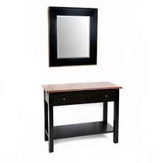 Bellamy Black Console & Mirror, Set of 2 at Kirkland's