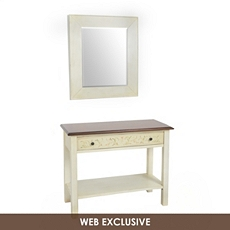 Bellamy Ivory Console & Mirror, Set of 2 at Kirkland's