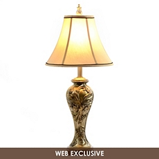 Gold Carved Table Lamp at Kirkland's