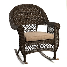 Dark Walnut Wicker Rocking Chair at Kirkland's