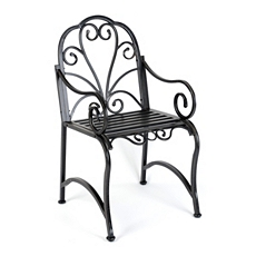 Black Metal Scroll Patio Chair at Kirkland's