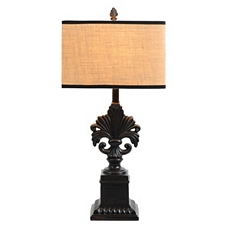 Black Fleur-de-Lis Table Lamp at Kirkland's