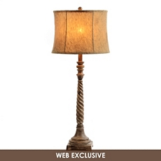 Light Brown Buffet Lamp with Floral Shade at Kirkland's