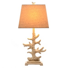 Ivory Coral Table Lamp at Kirkland's