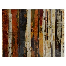 Birch On Abstract Canvas Art Print at Kirkland's