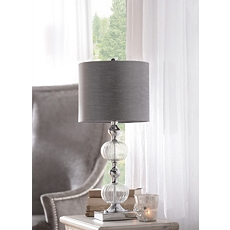 Smoke Glass & Chrome Table Lamp at Kirkland's