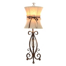 Bronze Scroll Table Lamp with Ribbon at Kirkland's