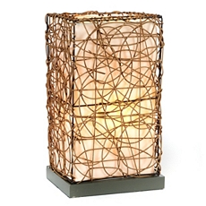 Wired Wicker Table Lamp at Kirkland's