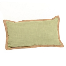 Green Jute Linen Pillow, 24x14 at Kirkland's