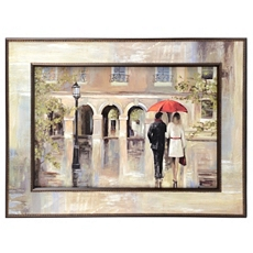 Red Umbrella Rendezvous Framed Art Print at Kirkland's