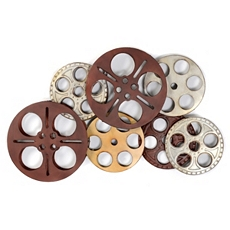Silver & Red Movie Reels Wall Plaque at Kirkland's