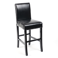 Black Bonded Leather Counter Stool at Kirkland's