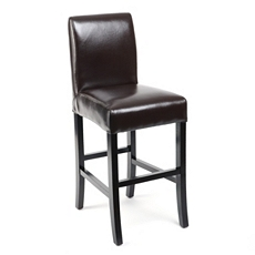 Chocolate Bonded Leather Counter Stool at Kirkland's