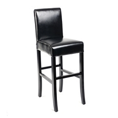 Black Bonded Leather Bar Stool at Kirkland's